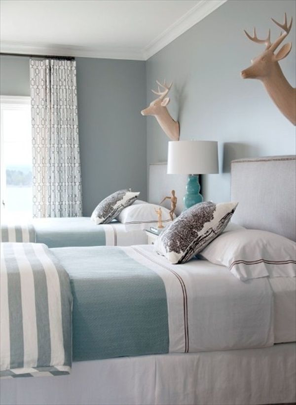 light grey and teal bedroom ideas