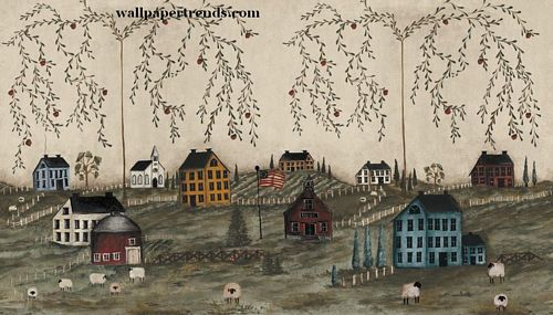 Country Primitive Wallpaper