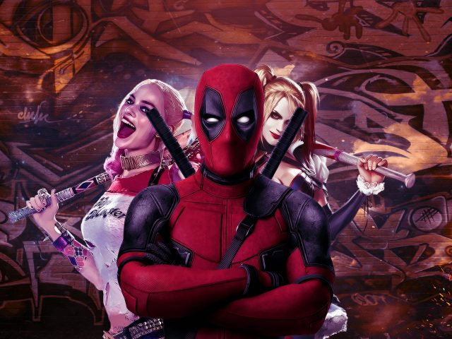 Iphone 5s Full Hd Wallpaper Deadpool And Harley Quinn 4k Wallpaper Hd Wallpaper