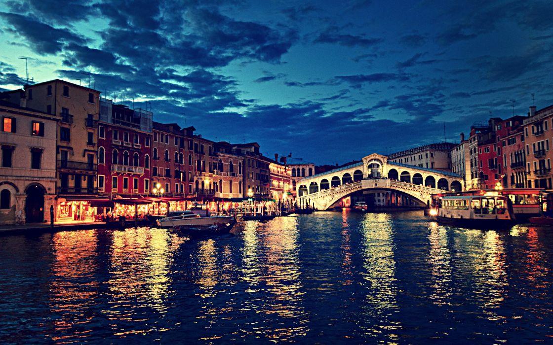 Hd Birthday Wallpapers 1080p Rialto Bridge At Night Venice Italy Wallpaper