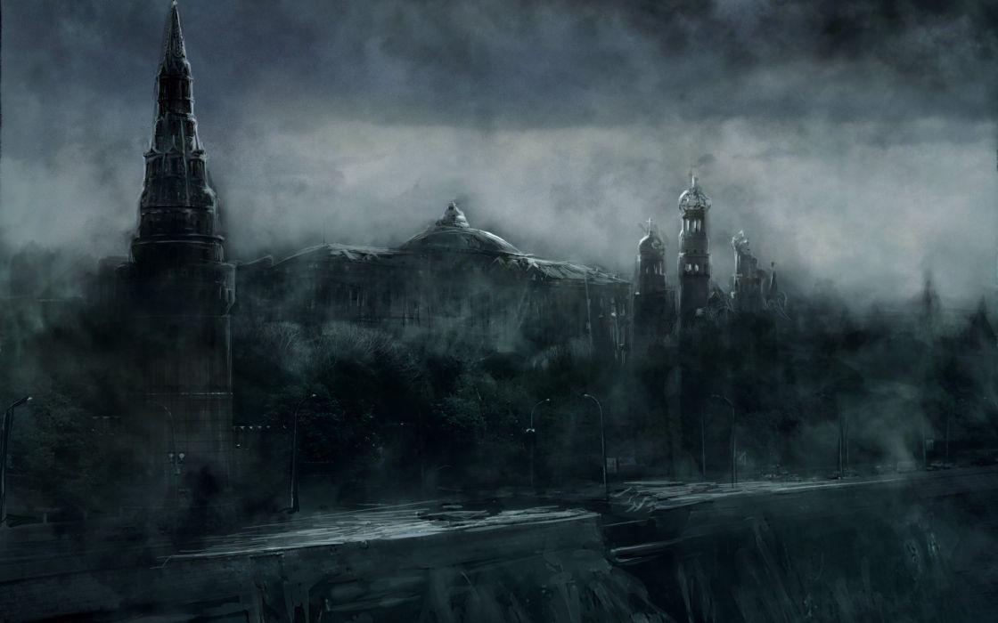 Metro 2033 Wallpaper Hd Ruins Post Apocalyptic Architecture Mist Buildings Fantasy