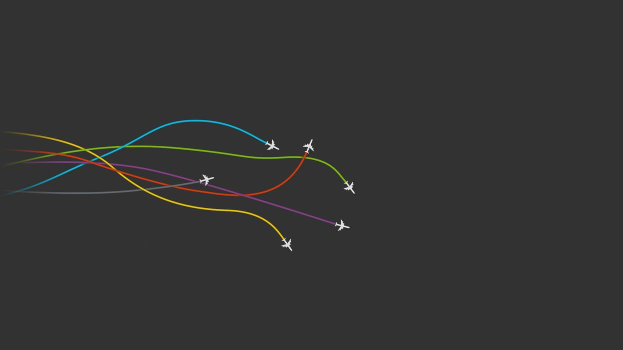 3d Depth Purple Abstract Wallpapers Aircraft Minimalistic Gray Planes Simple Colors Wallpaper