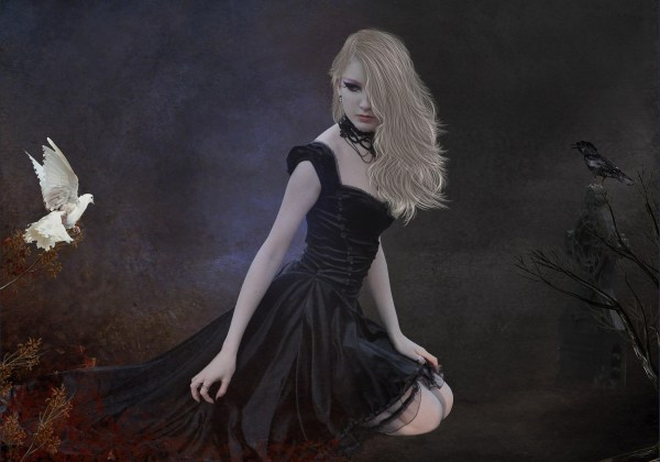 Manipulation Cg Digital-art Women Girls Females Gothic