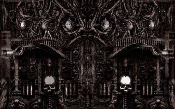 Dark Horror Gothic Sci Fi Skull Art Wallpaper 1680x1050