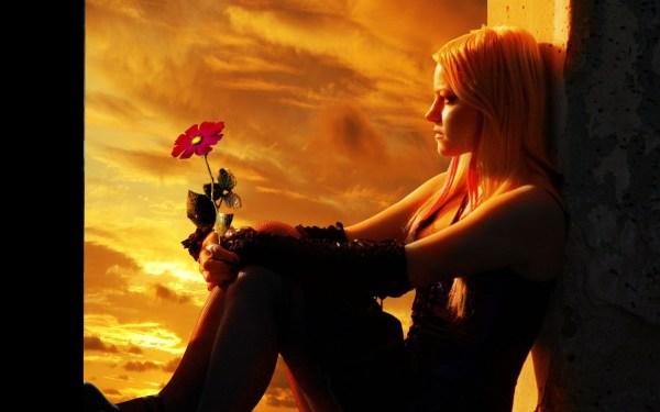 Gothic Cg Digital Manip Art Mood Flower Women Sky Sunset
