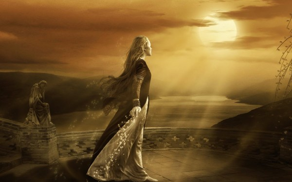 Cg Digital Art Manip Mood Gothic Sunset Sunrise Sky Clouds Sunlightbeams Rays Women Girl Gown