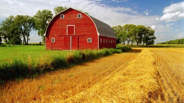 barn rustic farm landscapes fields