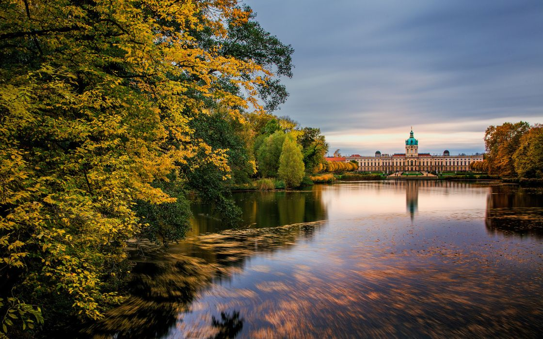 Fall And Autumn Wallpaper Germany Palace Charlottenburg Berlin Buildings Nature