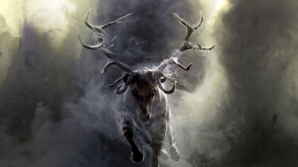 Art Paintings Deer Nature Smoke Dark Fog Wallpaper 1920x1080 35704 Wallpaperup