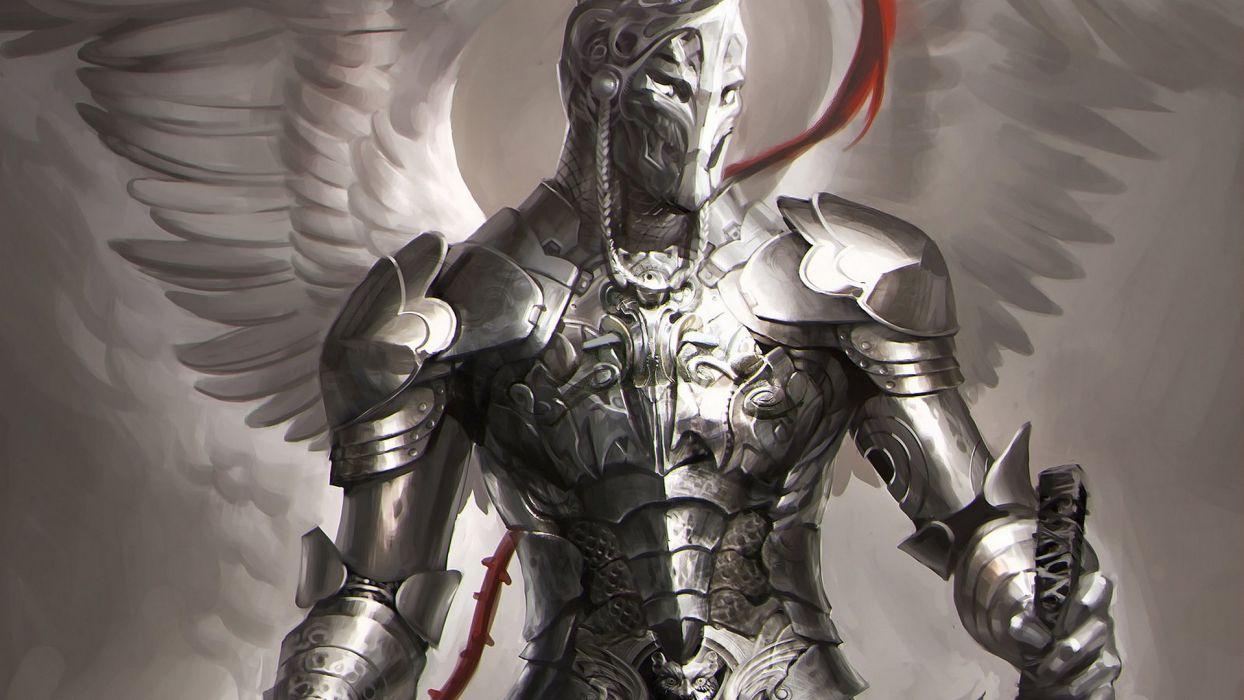 warrior knight angel armor