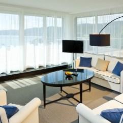 Interior Of Living Room Modern Rug Design Style Windows Curtain ...