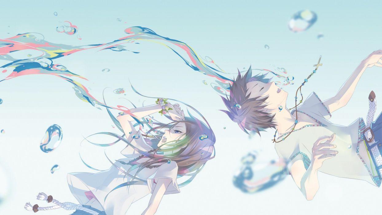 Vector Wallpaper Fall Colors Anime Girl Boy Wallpaper 1920x1080 50537 Wallpaperup