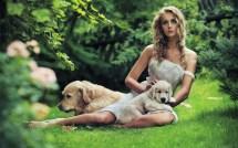 Women Dogs Barefoot Wallpaper 2560x1600 56807