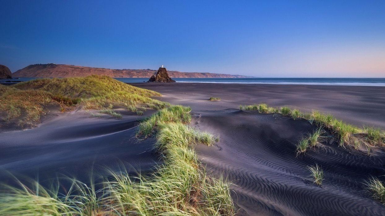 Beach Wallpaper Hd Beaches Grass Sand Ocean Sea Landscapes Coast Shore Sky