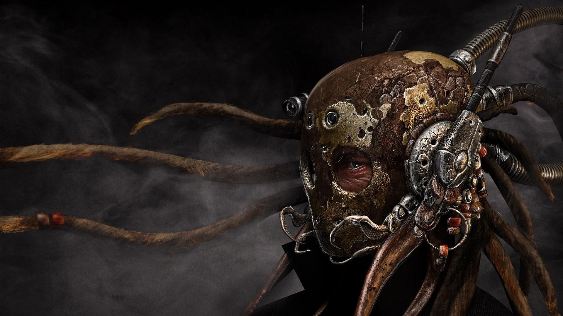 Mask Steampunk Dark Wallpaper 1920x1080 62020