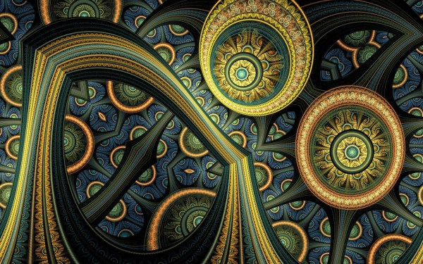 Abstraction 3d Background Fractal Wallpaper 1920x1200