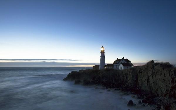 sea lighthouse landscape wallpaper