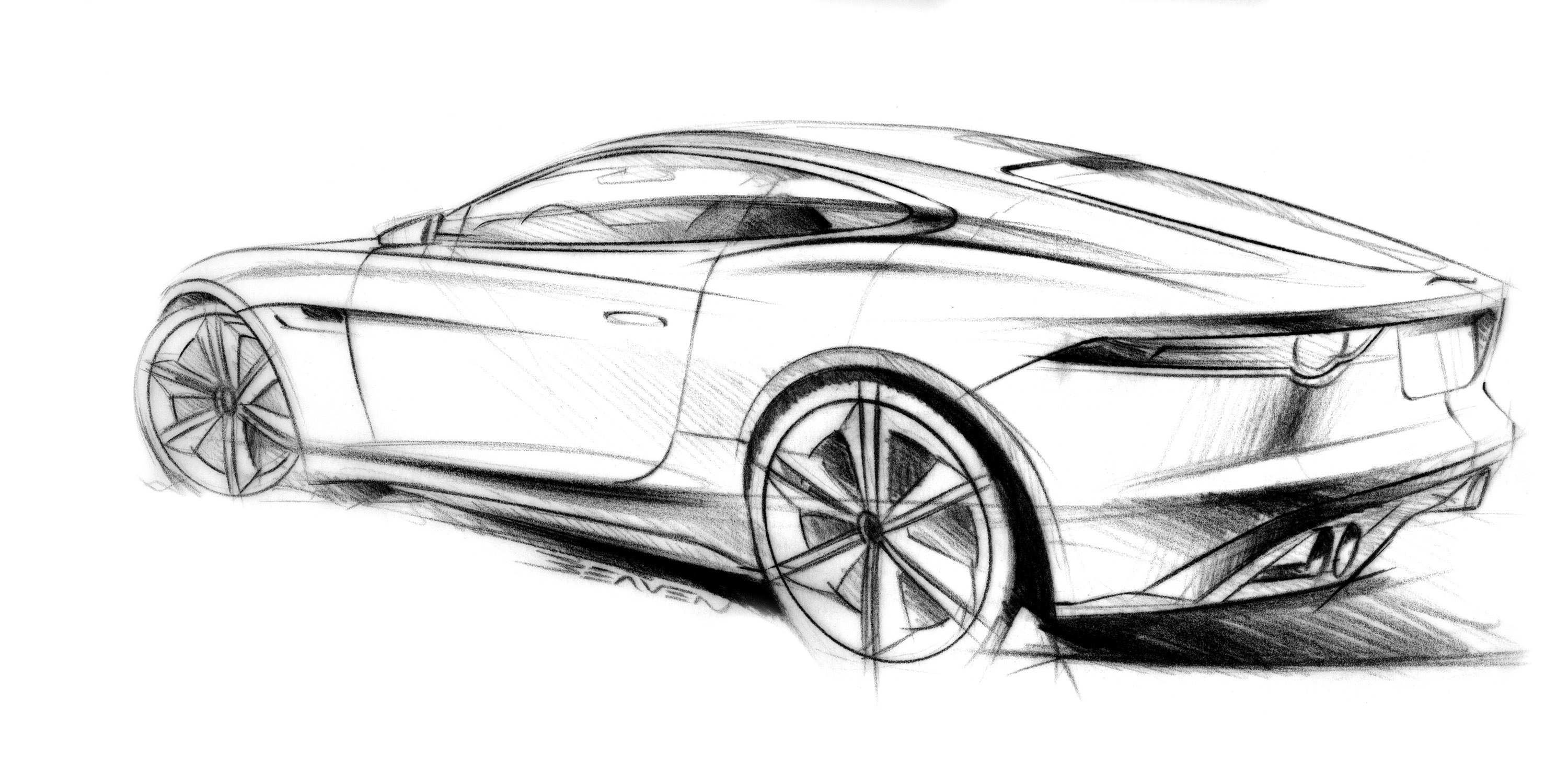 Jaguar C X16 Concept Supercar Supercars Drawing Sketch Pencil Art W Wallpaper
