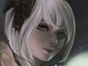original short hair artwork white