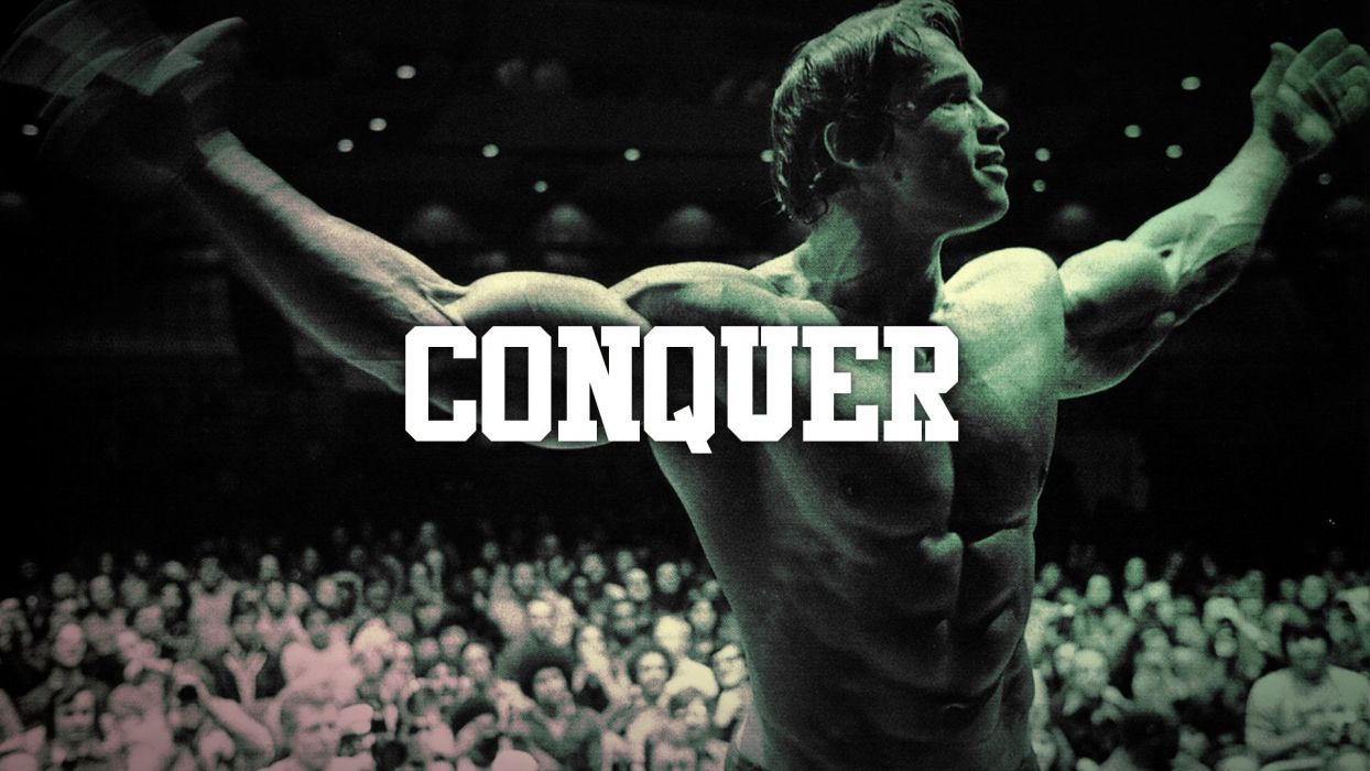Gym Quote Iphone Wallpaper Arnold Schwarzenegger Conquer Muscle Bodybuilding