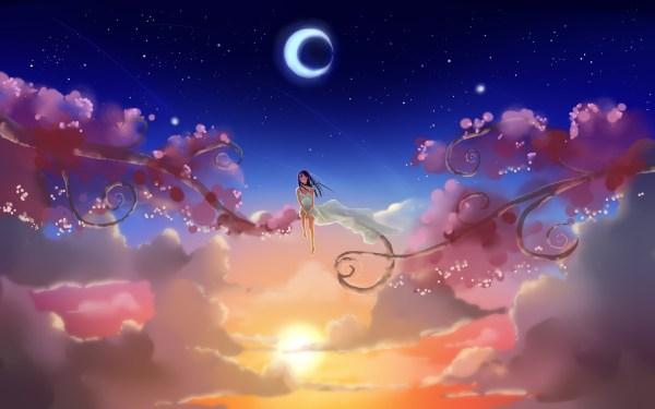 Original Anime Girl Dream World Art Wallpaper 1920x1200 129307 Wallpaperup