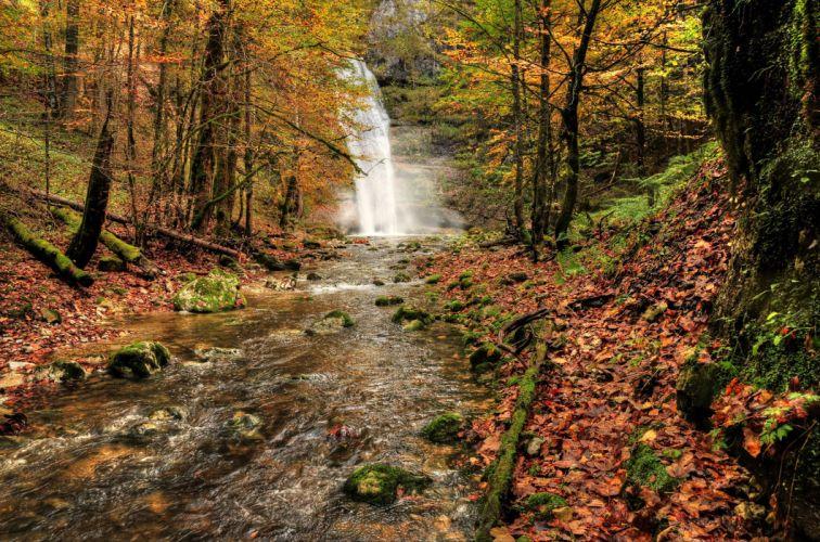 Tahquamenon Falls Michigan Winter Wallpaper Waterfall River Fall Forest Trees Nature Autumn Wallpaper