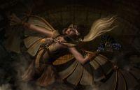 Girl steampunk wings gear art wallpaper | 1980x1280 ...