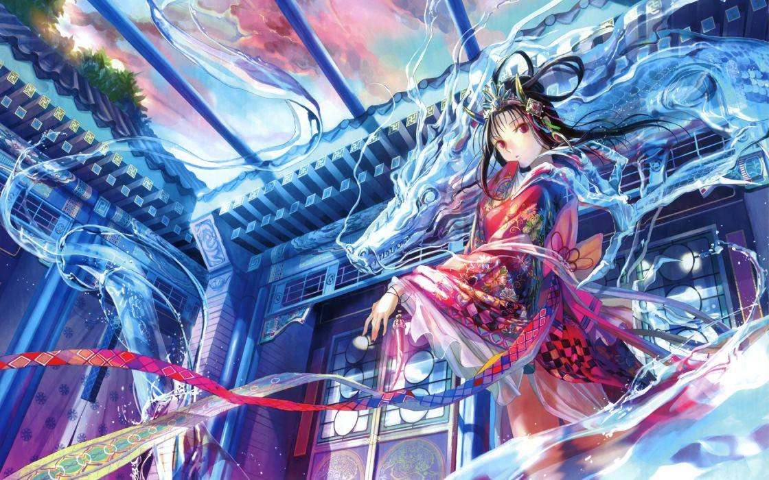 water dragons ribbons fuji