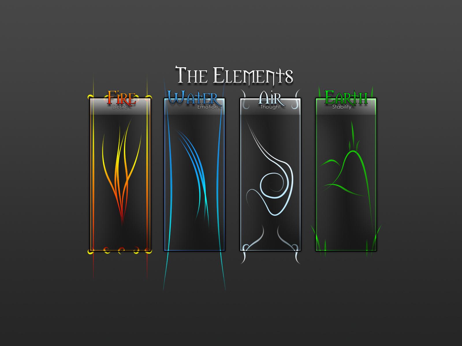 Fire Elements Light Water Earth Wind 6 Dark