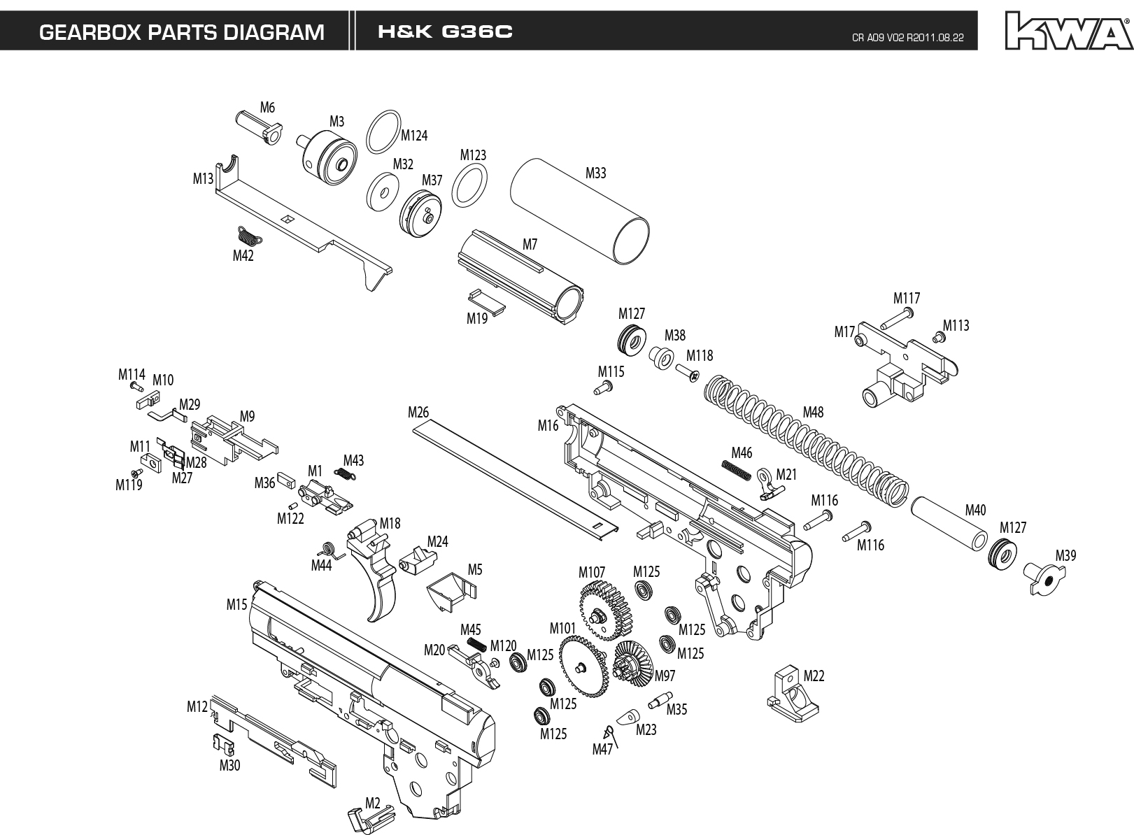 sig sauer 1911 parts diagram convert image to visio heckler and koch g36 weapon gun military rifle poster g