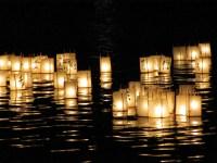 Japanese lantern lamp light asian oriental bokeh ...