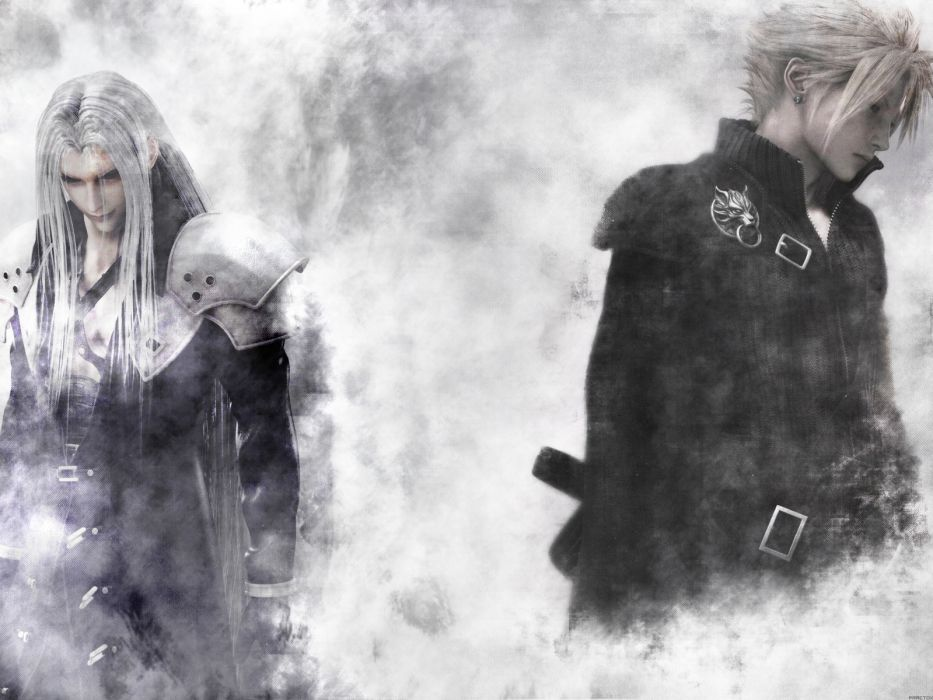 Mass Effect Animated Wallpaper Final Fantasy Vii Advent Children Sephiroth Cloud Strife