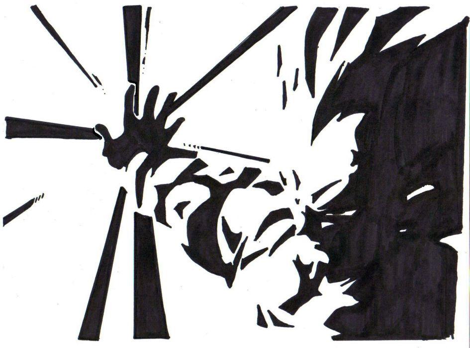 Zendha Black And White Dragon Ball Z Wallpaper