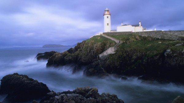 landscapes head ireland lighthouses