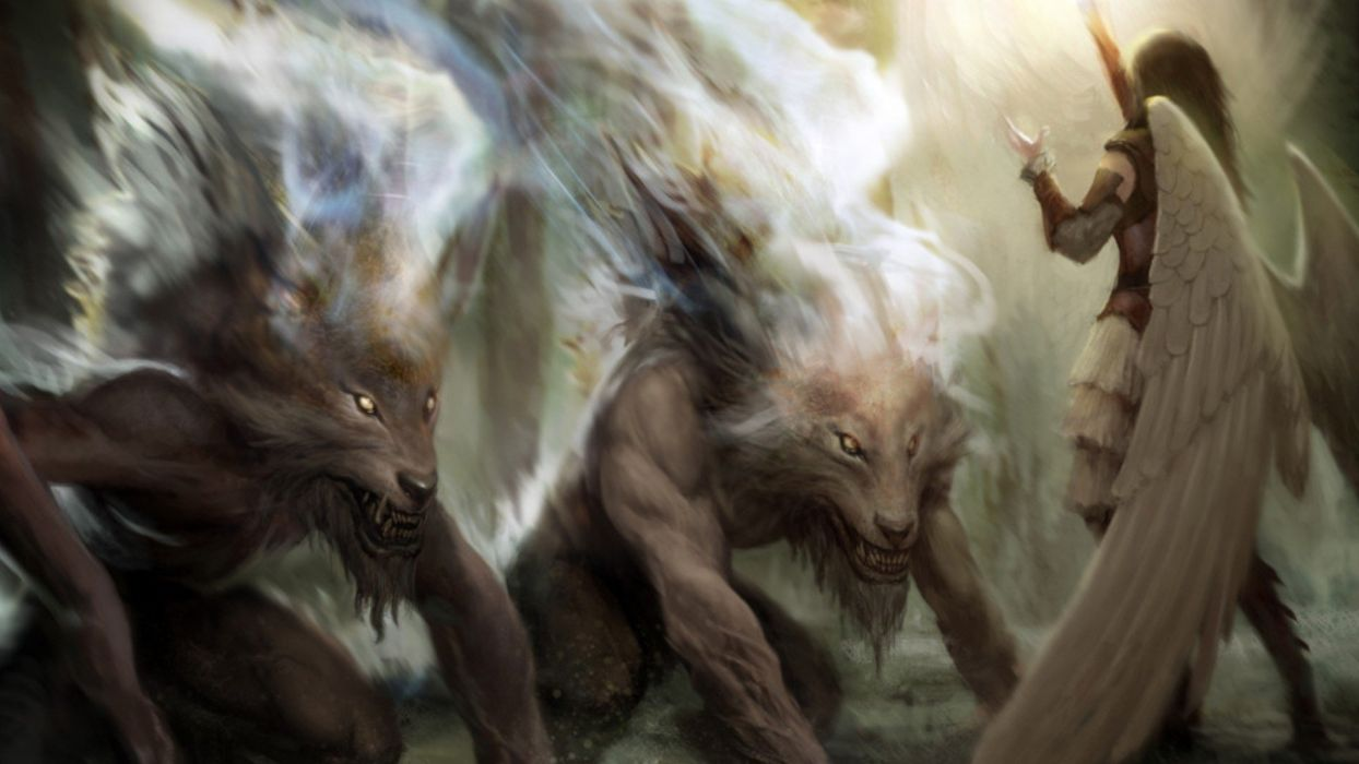 Tobi Wallpaper 3d Angels Magic The Gathering Fantasy Art Artwork Werewolves