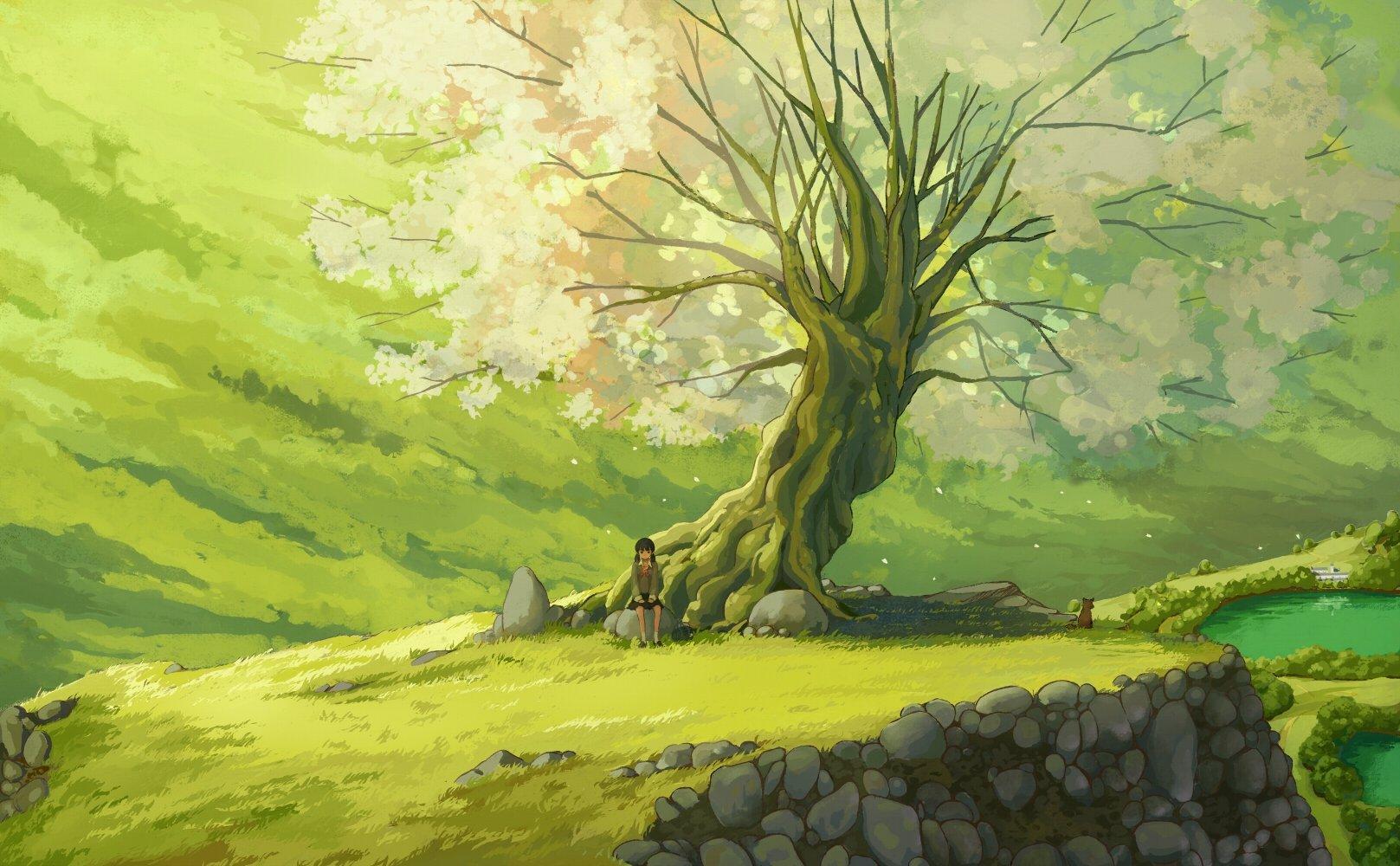 Green Every Cartoon Tree