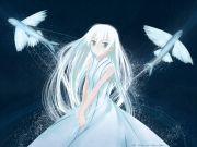 dress blue eyes fish long hair