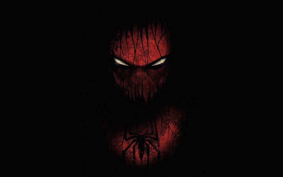 black red spider man