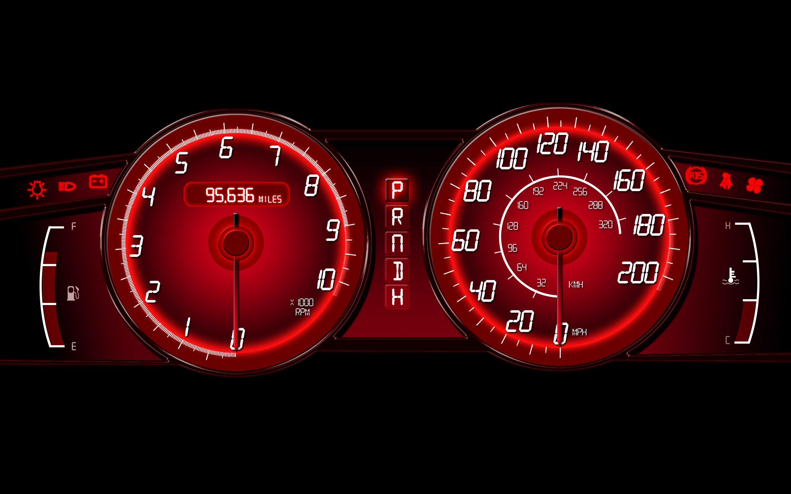 Car Speed Meter Live Wallpaper Speedometer In Paint Isolated