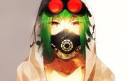 vocaloid gas masks goggles red
