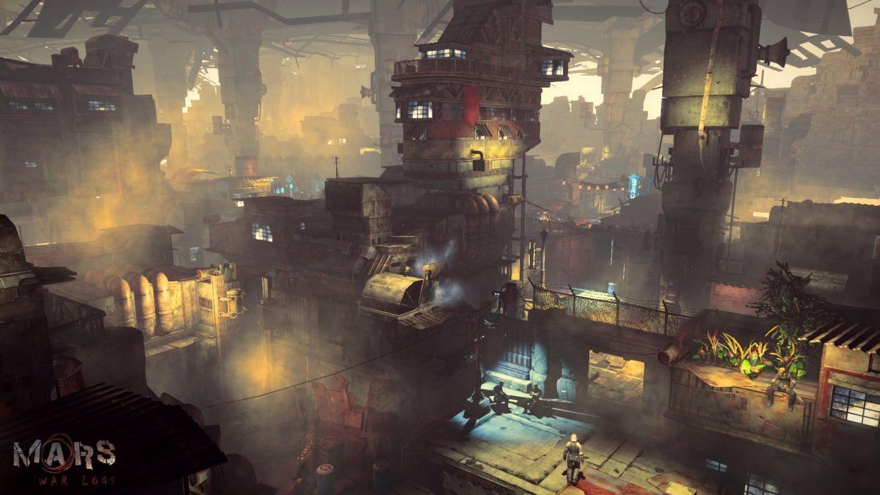 Easter Wallpaper Hd Mars War Logs Sci Fi Cyberpunk Futuristic City Wallpaper