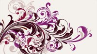Purple vectors swirls floral graphics white background ...