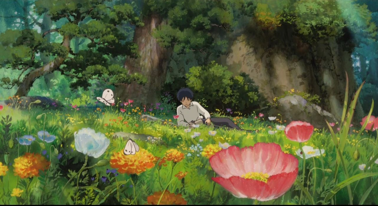 Flowers garden artwork anime boys Karigurashi no Arrietty