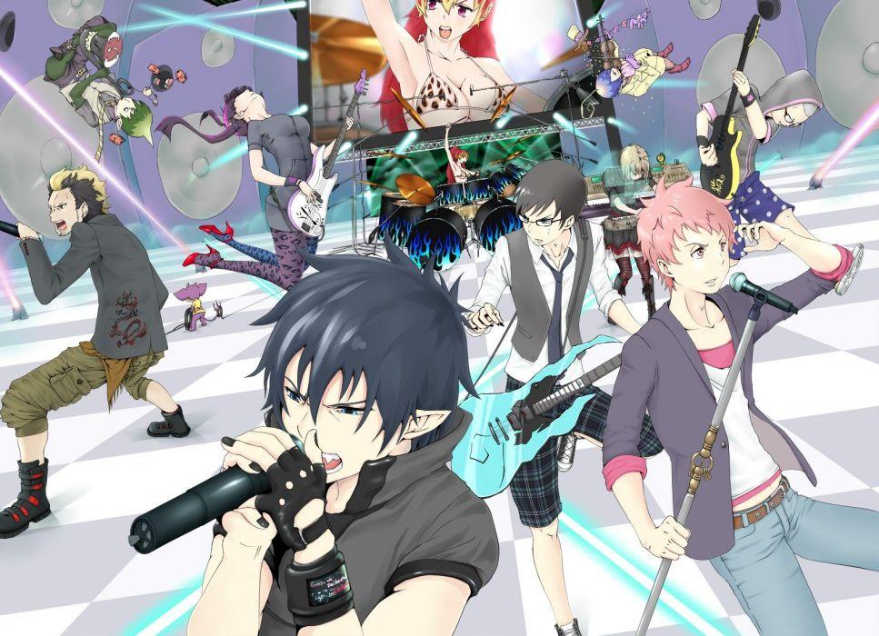 Wallpaper Emo Girl 3d Music Drums Singers Anime Band Concert Anime Boys Ao No