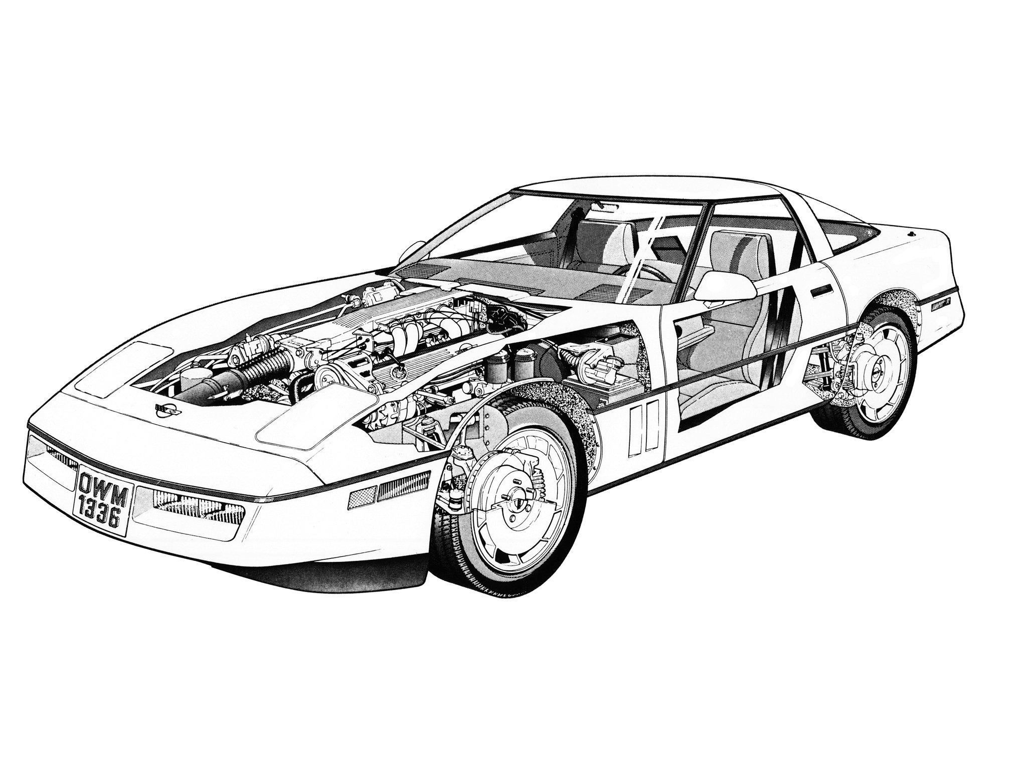 Chevrolet Corvette Zr1 Coupe C 4 Supercar Muscle