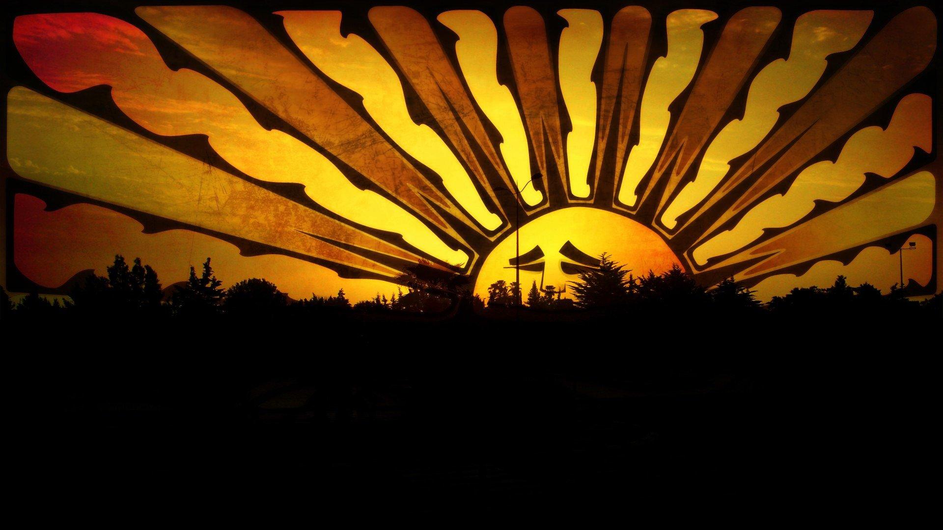 Ganja Girl Wallpaper Sunset Sun Orange Sad Morocco Orange Sky Wallpaper