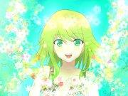 vocaloid flowers green eyes short