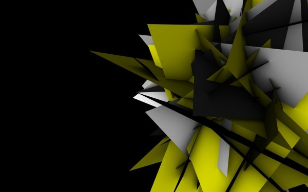 Abstract Shapes Geometry Digital Art Black Background