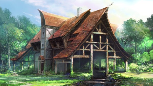 Paintings Fantasy Art Artwork House Wallpaper 1600x900