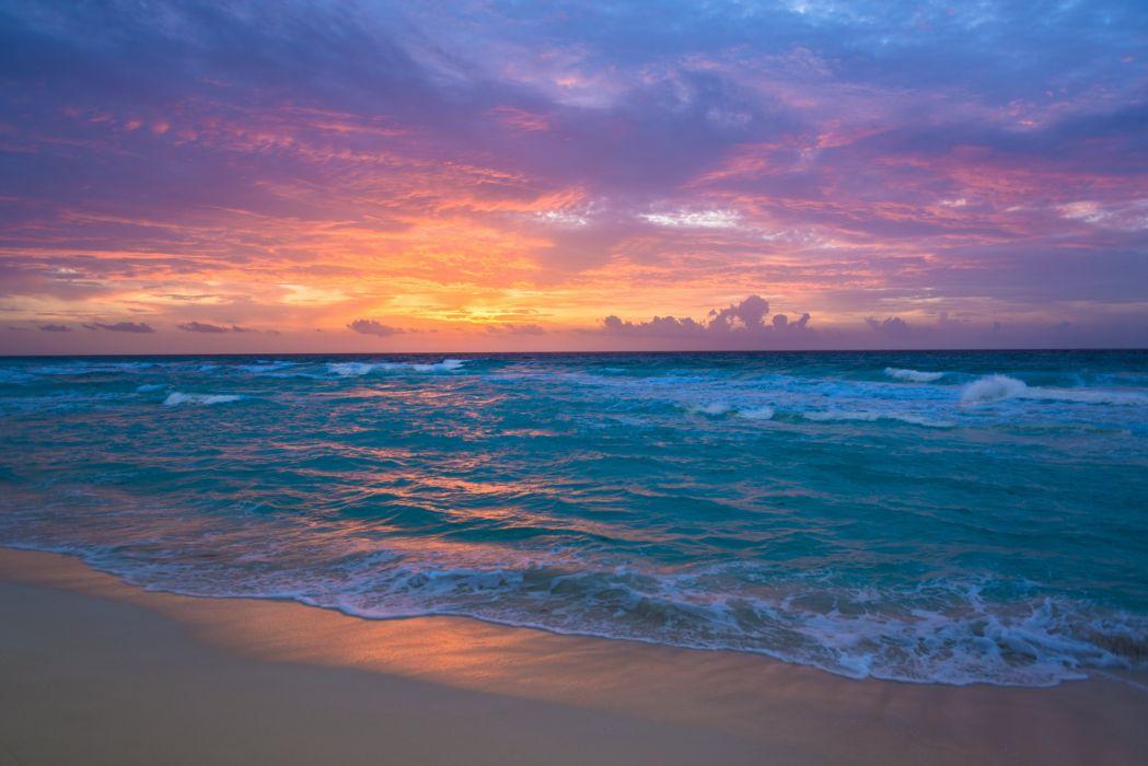 sea surf sunrise waves